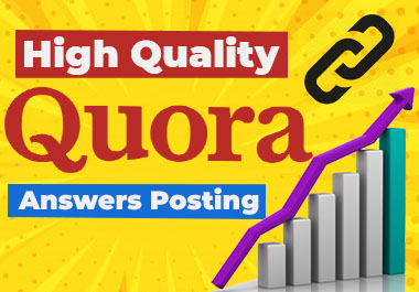 I will Provide 20 Quora answers with clickable Backlink