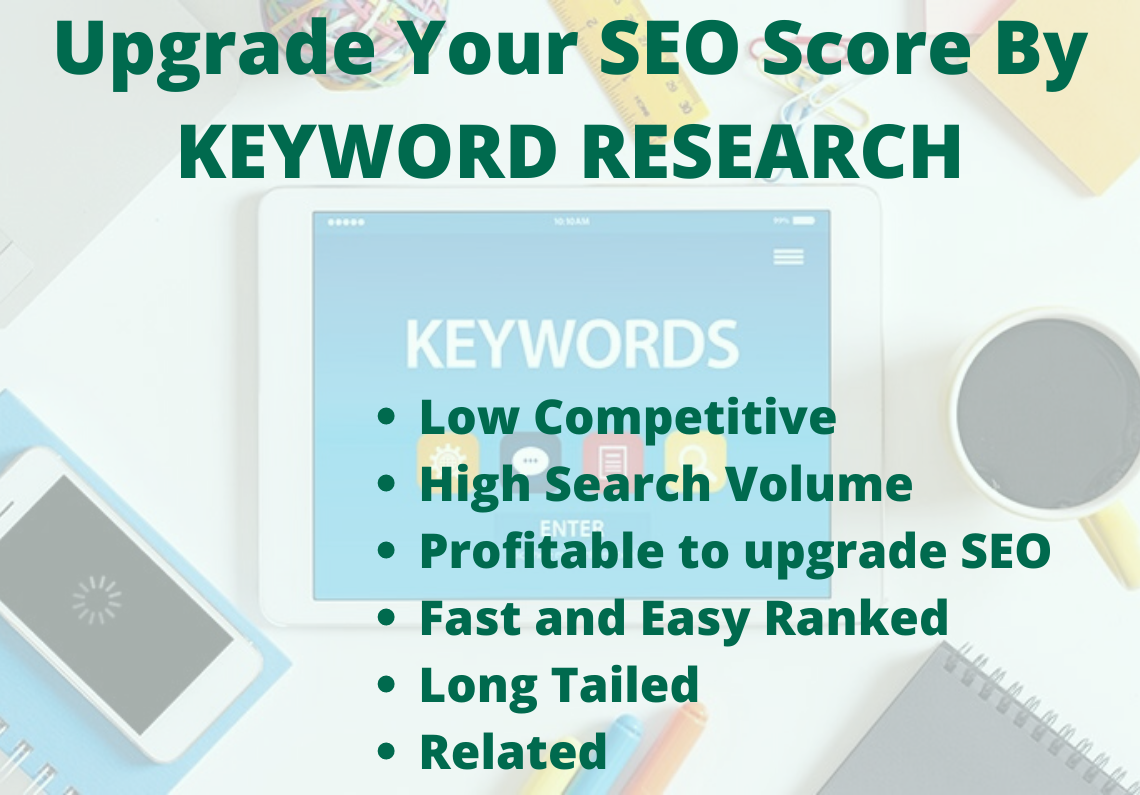 5 High Ranked Keywords with Competitor analysis to Upgrade SEO Score