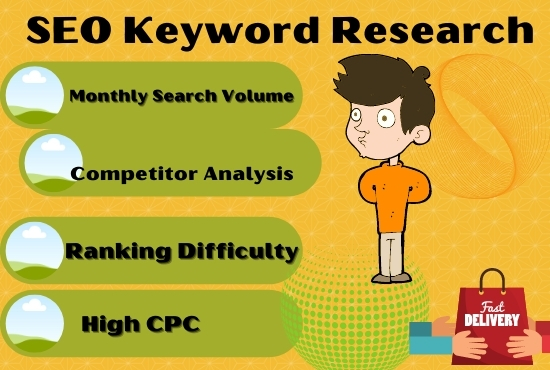 I will Do SEO keyword Research with 1 competitor Analyzed that actually ranks