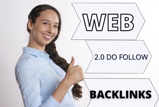 I will do 55 high DA PA web2.0 permanent Backlinks for your website