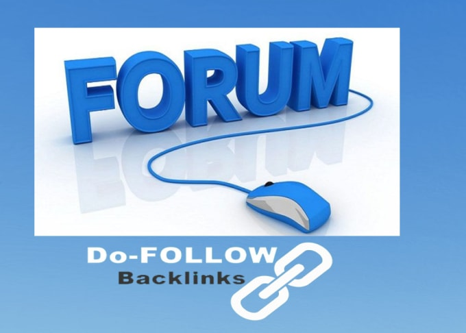 I will provide dofollow forum profile backlink and forum signature