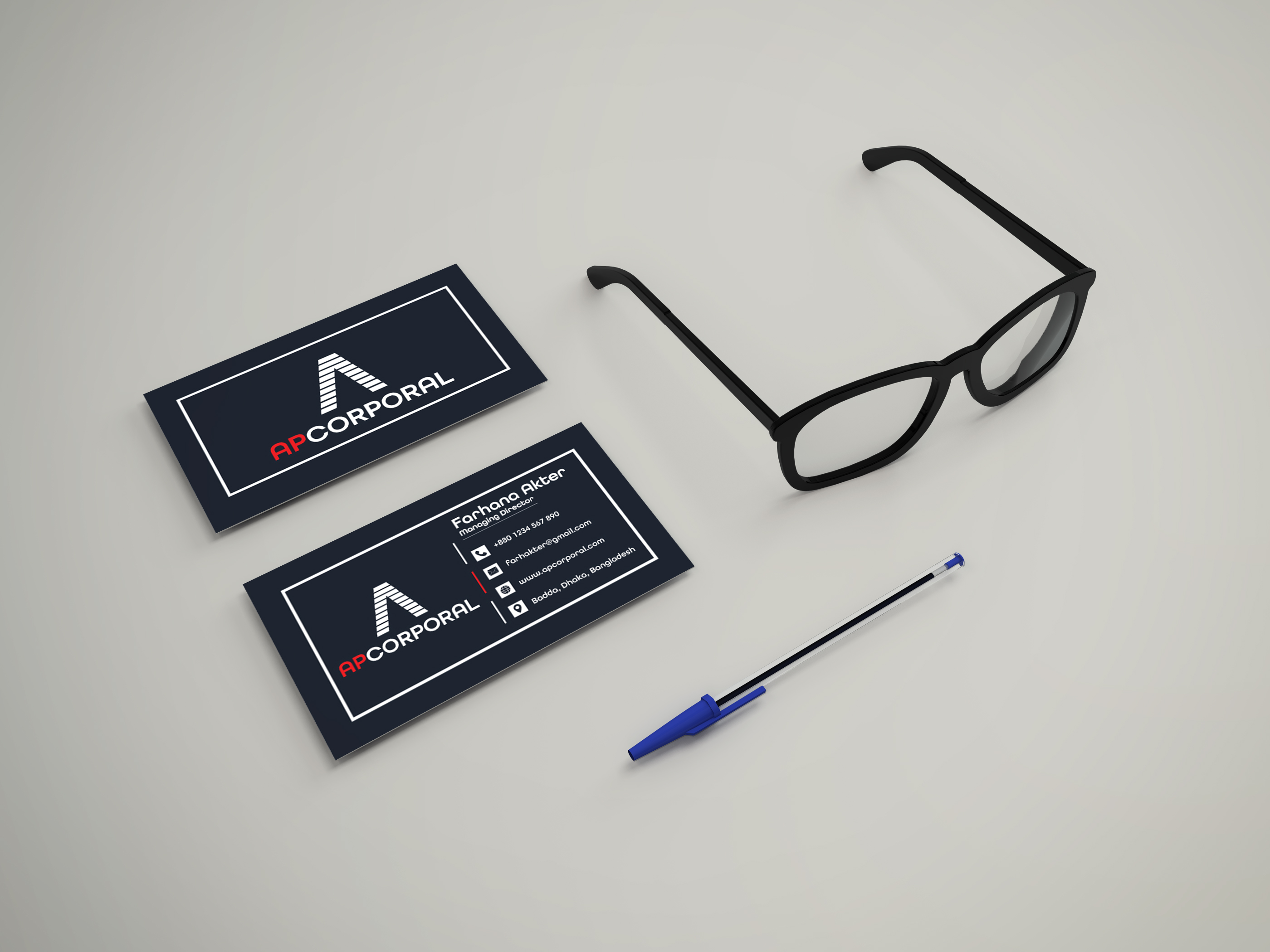 I will create Creative business card in a Day