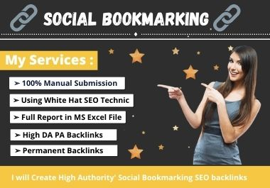 I will create manually high quality social bookmark SEO backlinks
