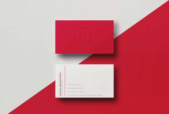 I will design modern business card