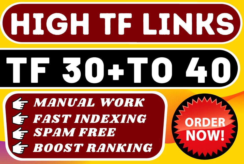 I will make 500 high tf homepage SEO backlinks
