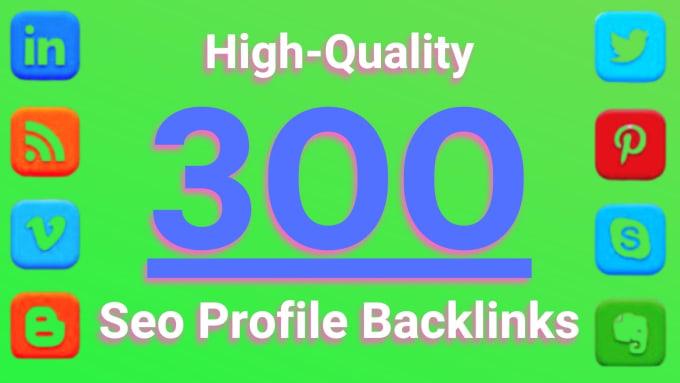 I will do high quality 300 social media white hat manual SEO profile backlinks building