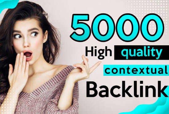 I will build 5000 plus SEO contextual backlinks tiered