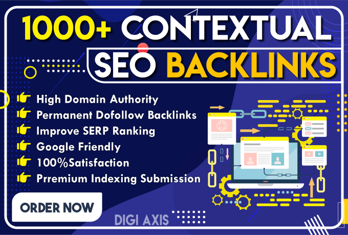 I will build 1000 plus manual white hat contextual dofollow backlinks