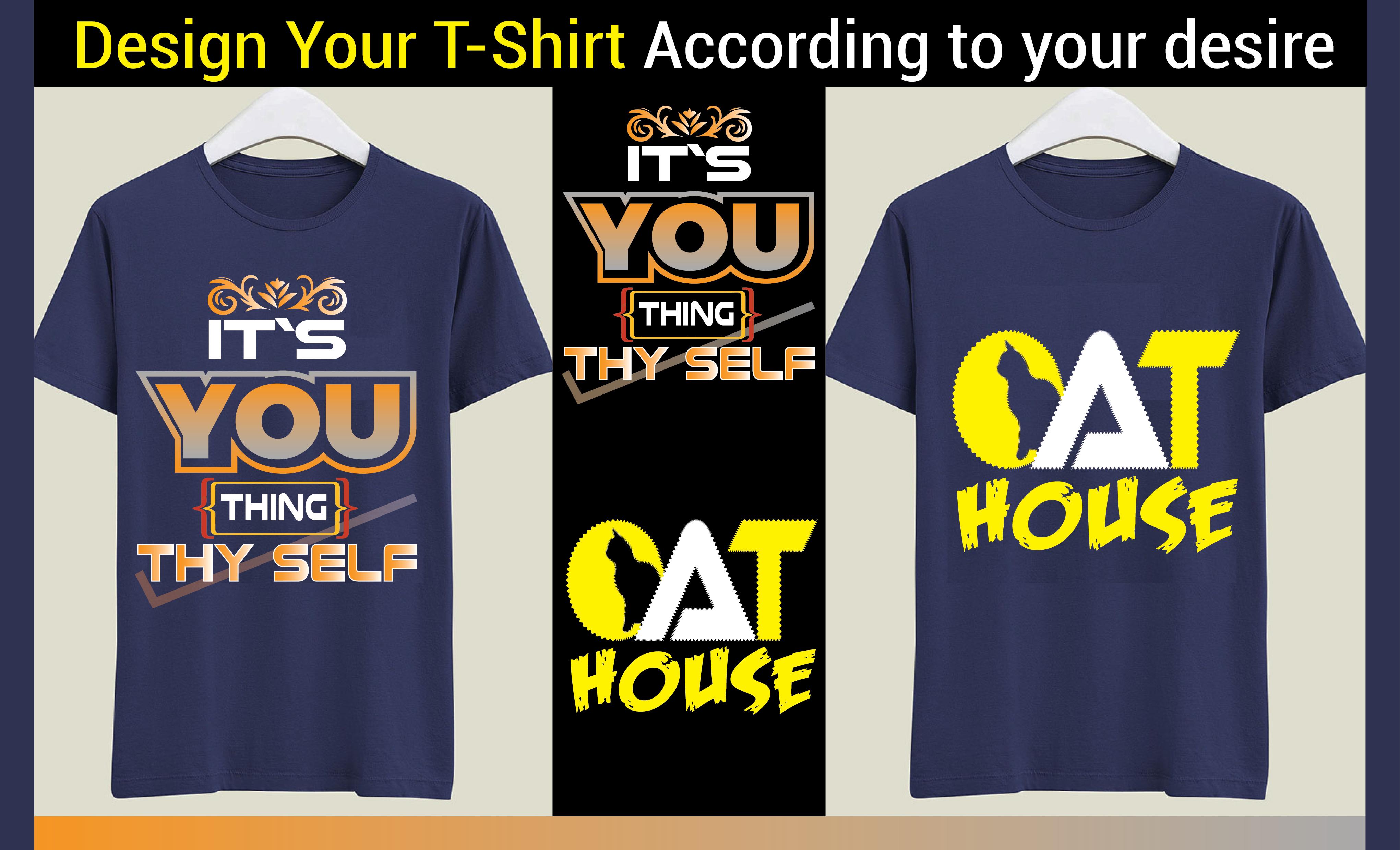 I will do custom T-shirt design for your business