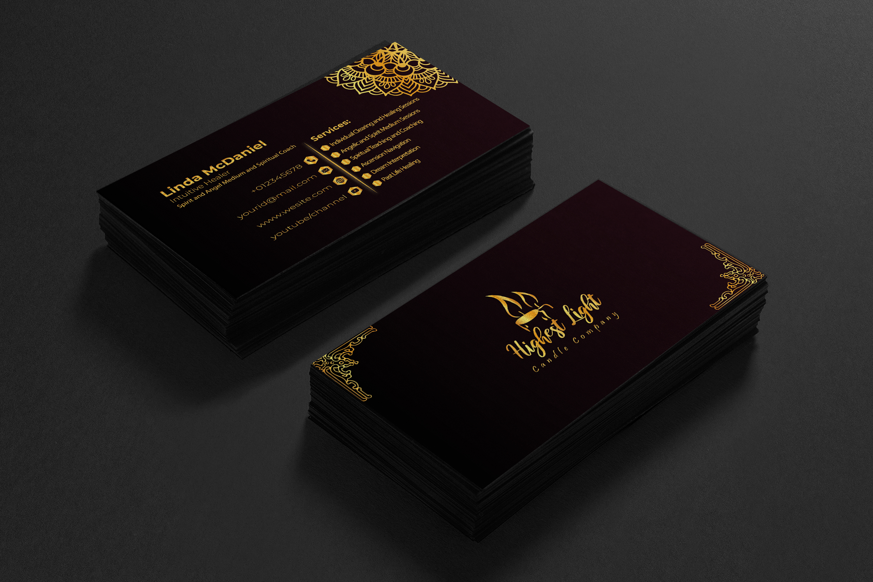 I will create luxury business card with premium design