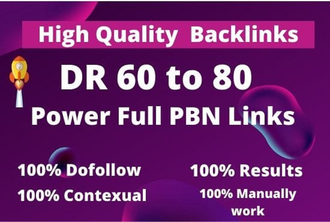 I will make 50 Quality dofollow permanent SEO backlinks DR 60 to 80