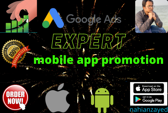I will do promote your mobile app and game on google AdWords