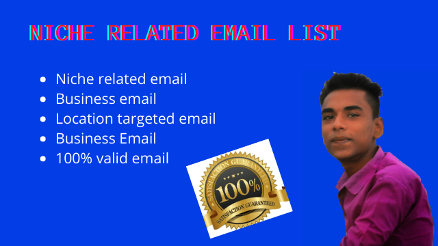 I will provide your niche related active email list