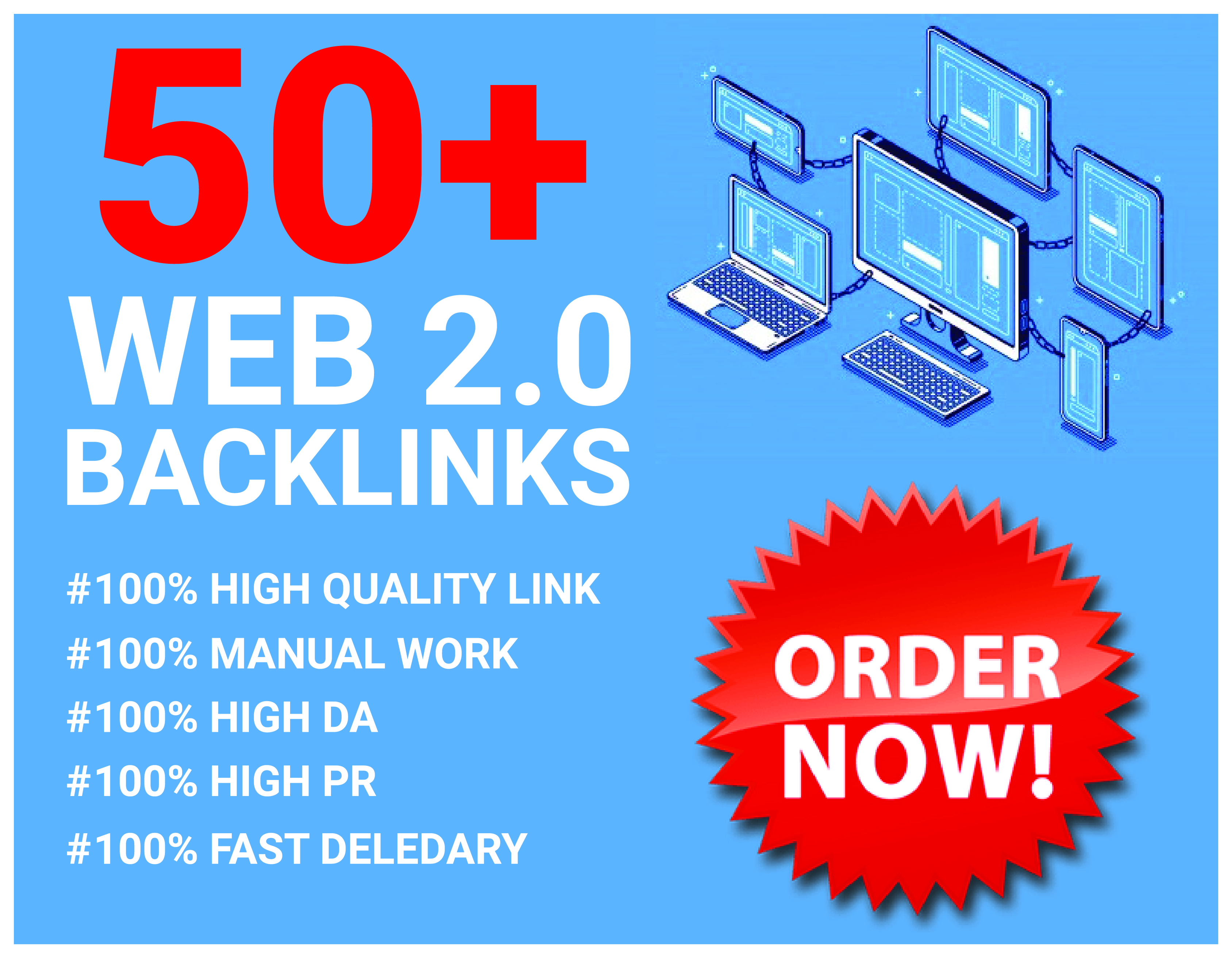 50+ Build Handmade Web 2.0 HIGH DA Manual Backlinks For Ranking On Google