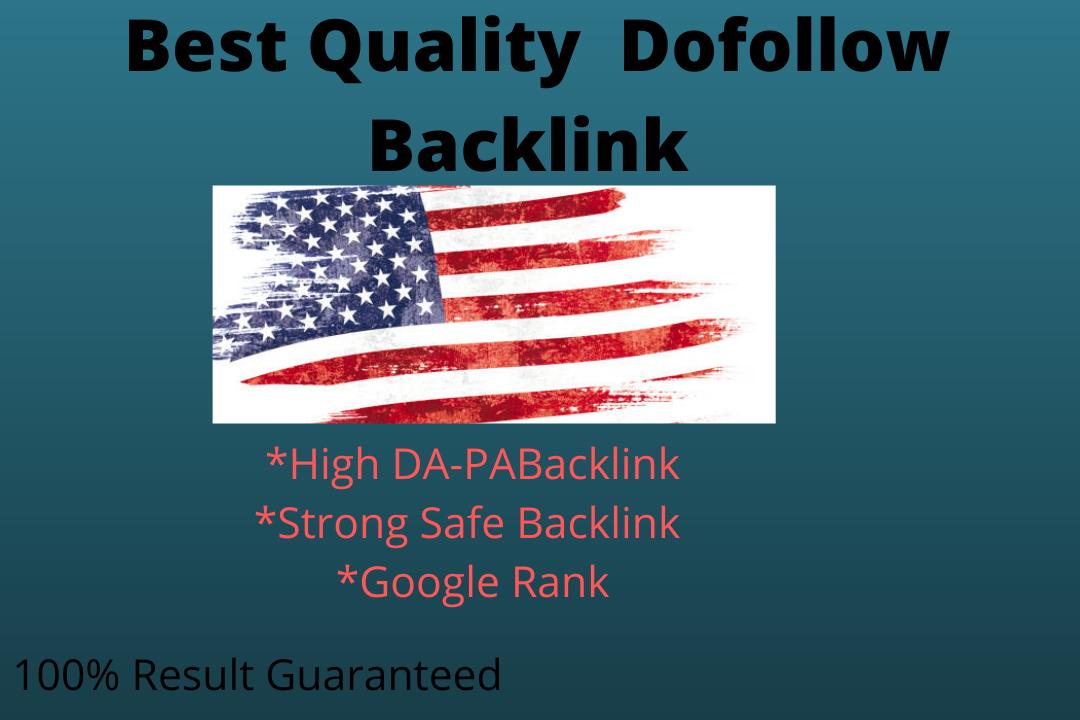 I Will 100% high-quality do-follow backlink 100% Guaranteed by 100 trusted Do-Follow Backlink SEO f