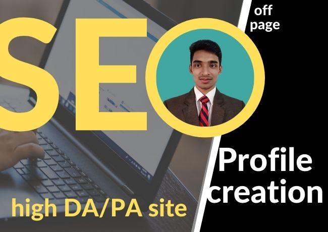 I will create 20 social profile backlinks manually
