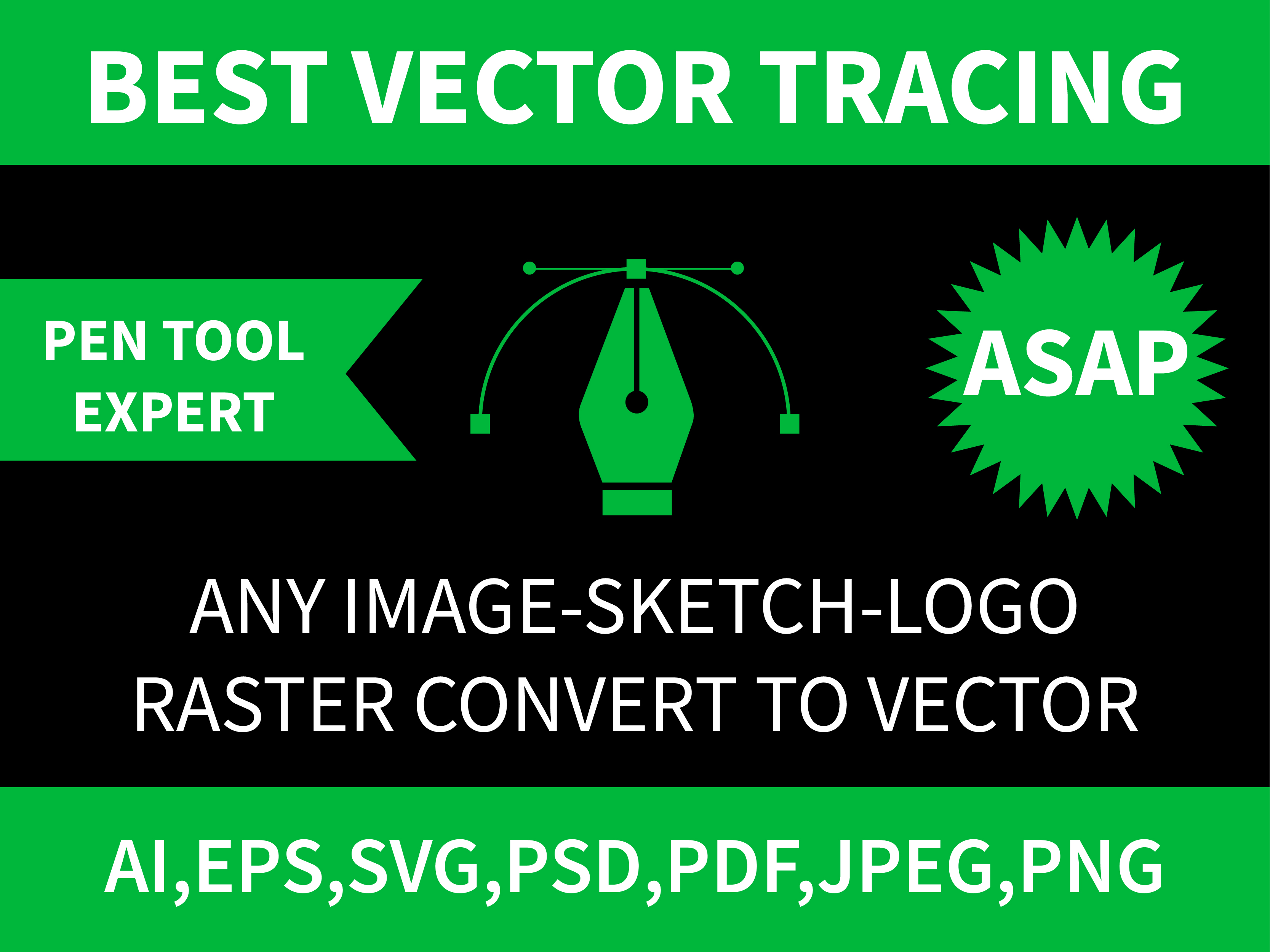 I will professionally convert any image to high resolution vector