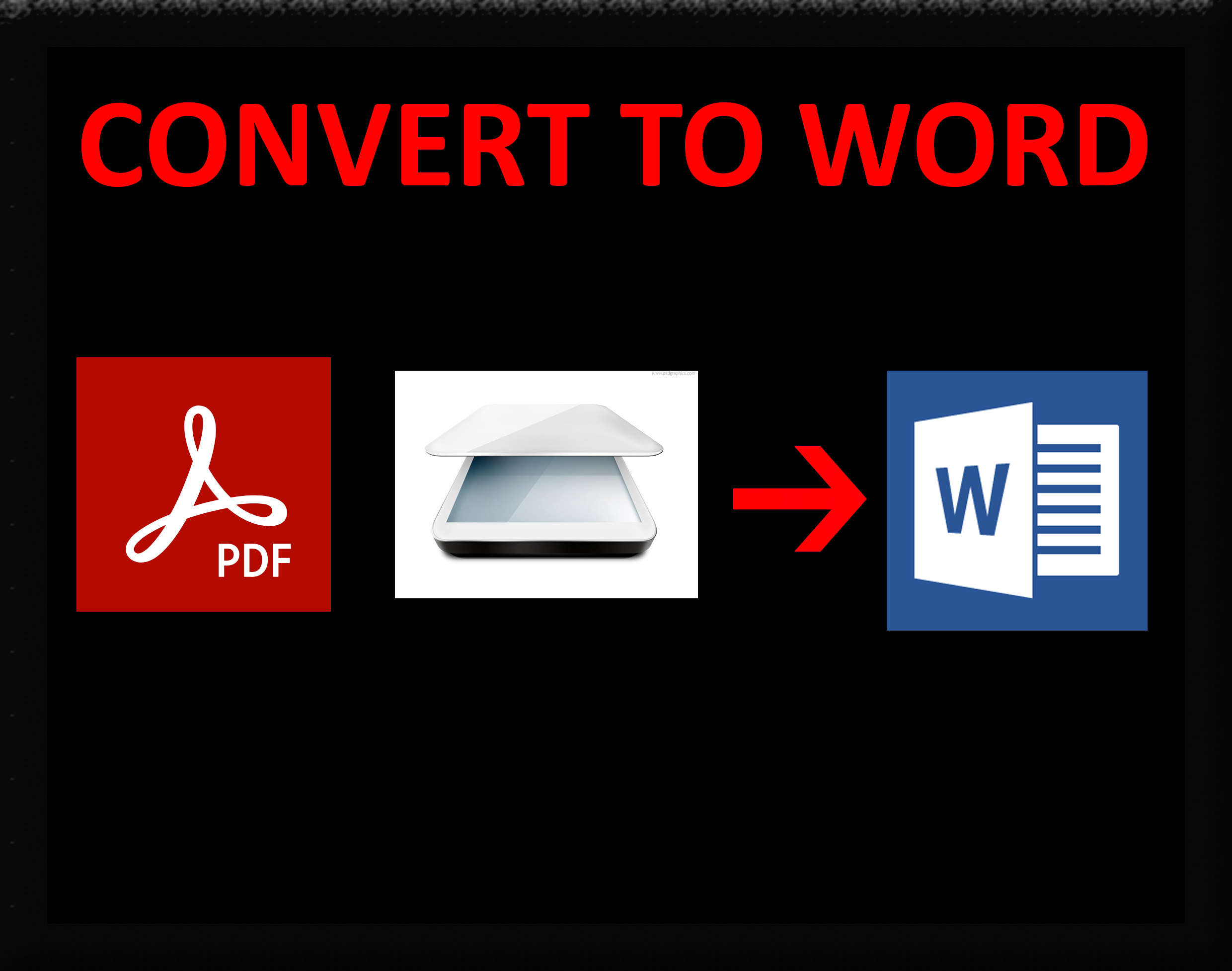I will transcribe PDF to Word,  JPG to Word,  Scanned file to word
