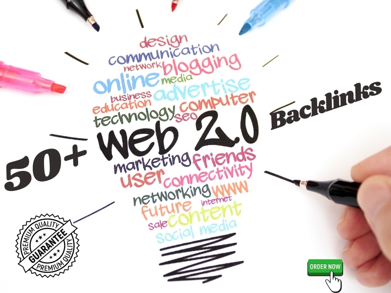 I will provide 50+ web 2.0 High Quality Backlinks and incresse your Website