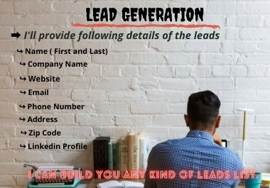 I Will do 100 targeted b2b lead generation and web research