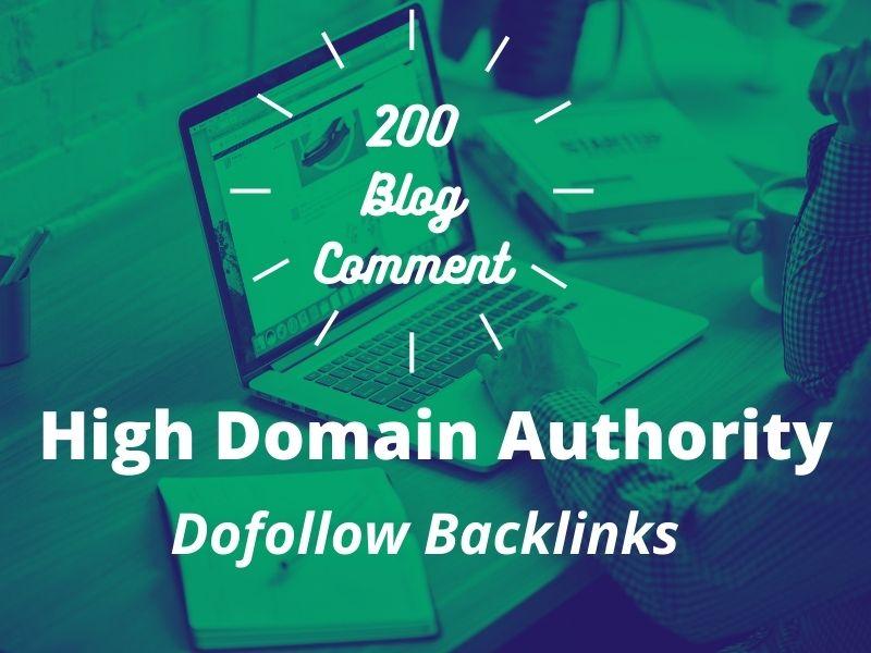 I will post 200 Dofollow Blog comment Backlinks