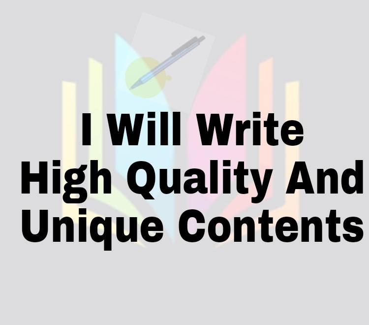 I will provide you with unique articles on any topic for your site or blog
