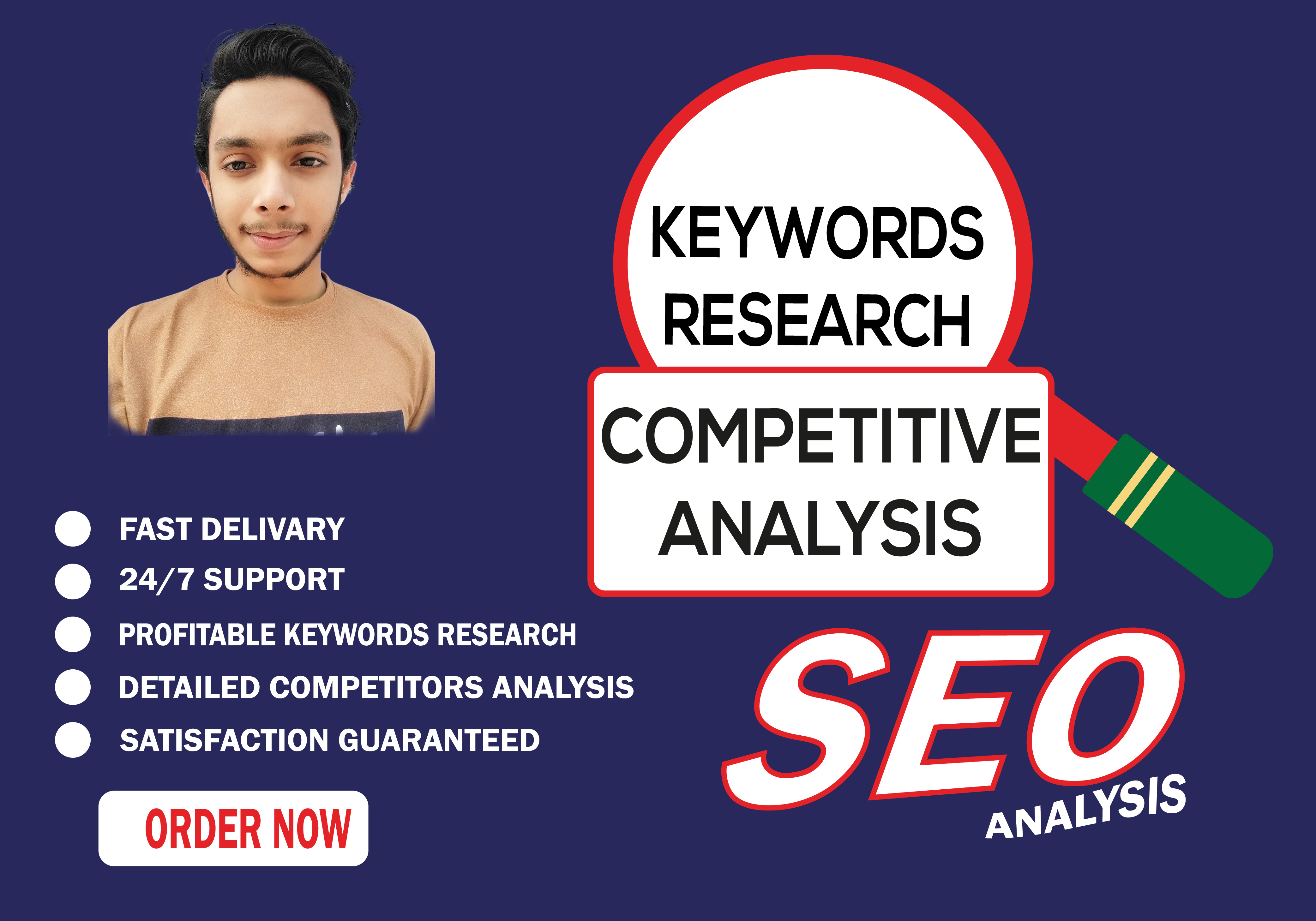 I will do effective keywords research and competitive analysis.