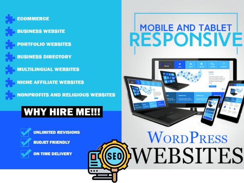 I will create a responsive wordpress website Design and customization