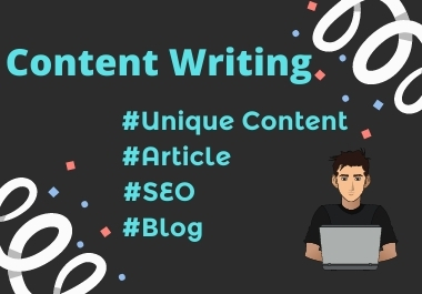 I will write creative SEO content,  Blog posts & Articles