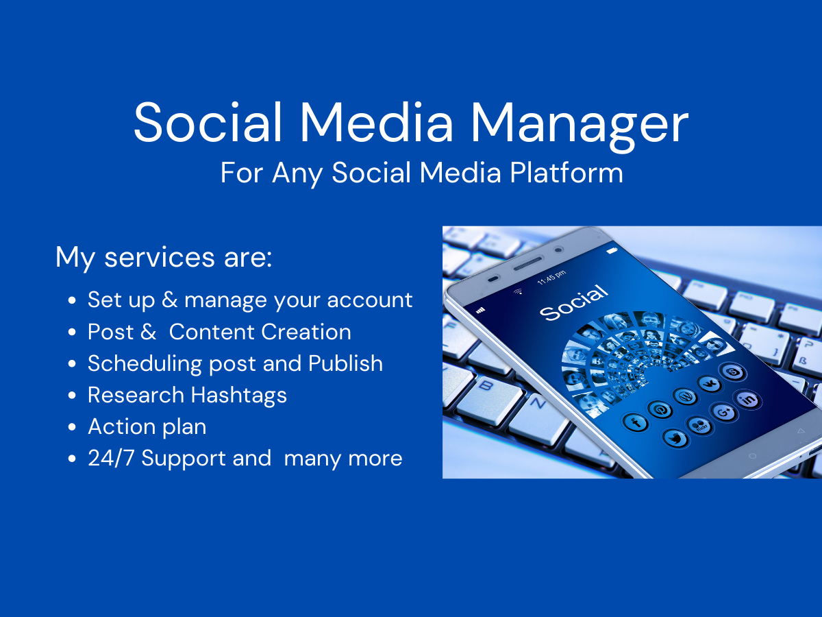 Will Be Your Social Media Manager and Virtual Assistant