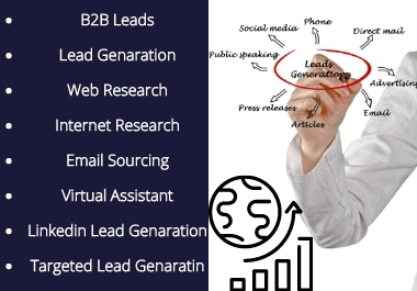 I will do b2b lead generation for target locations