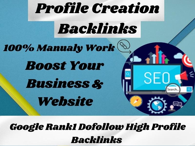 I will do 50 High DA Profile Creation Backlinks