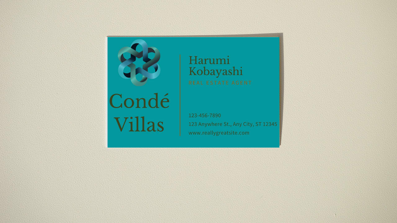 I will create a professional business card for your business