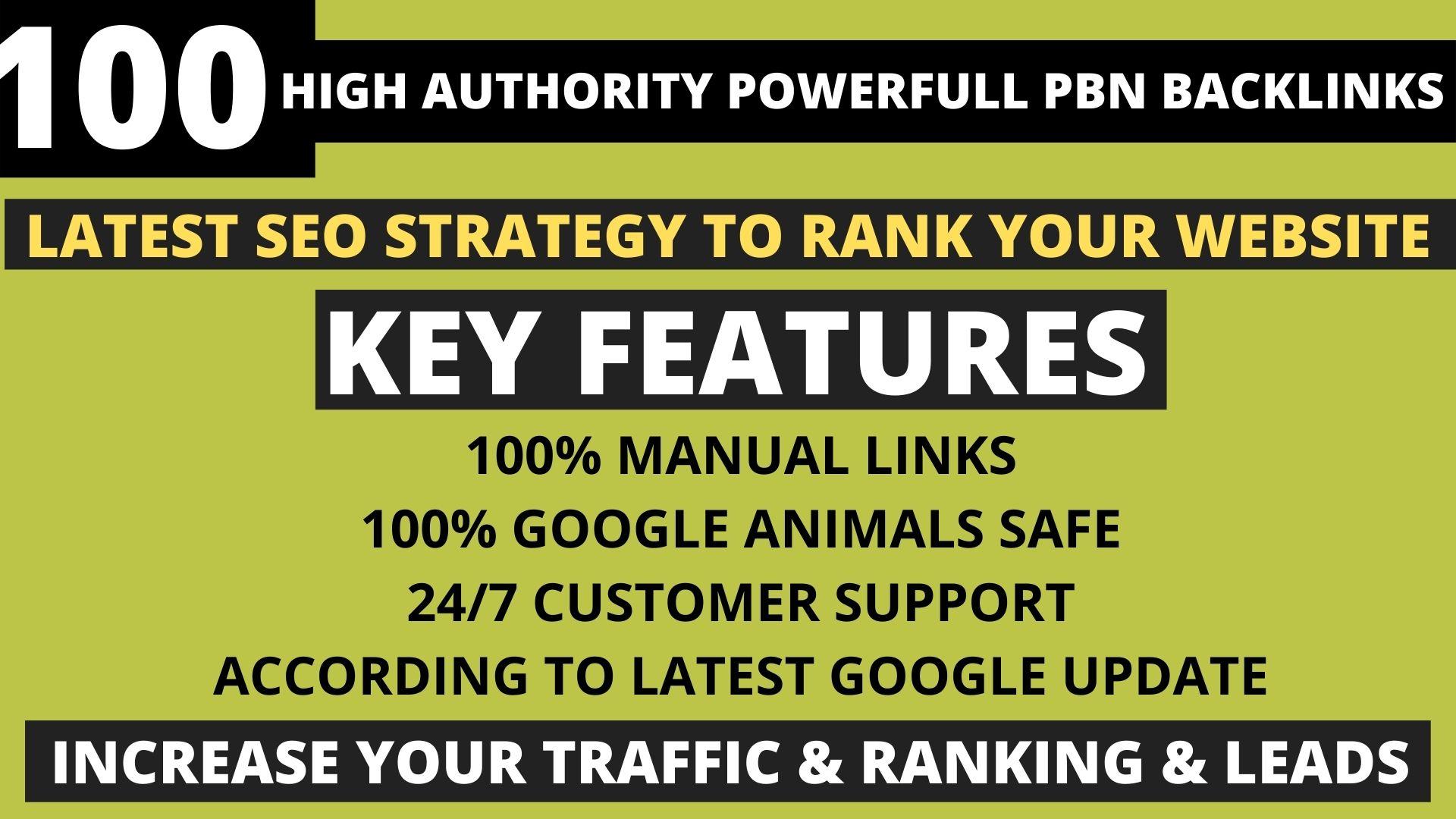 Get Powerfull 100 Permanent Pbn DA 40+ PA 35+ pr5+ Web2.0 Backlink With Unique 100 Website