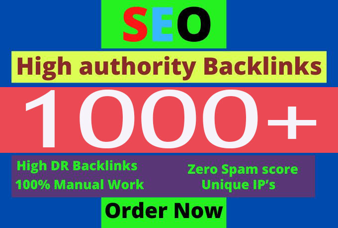 Provide 1000+ dofollow backlinks