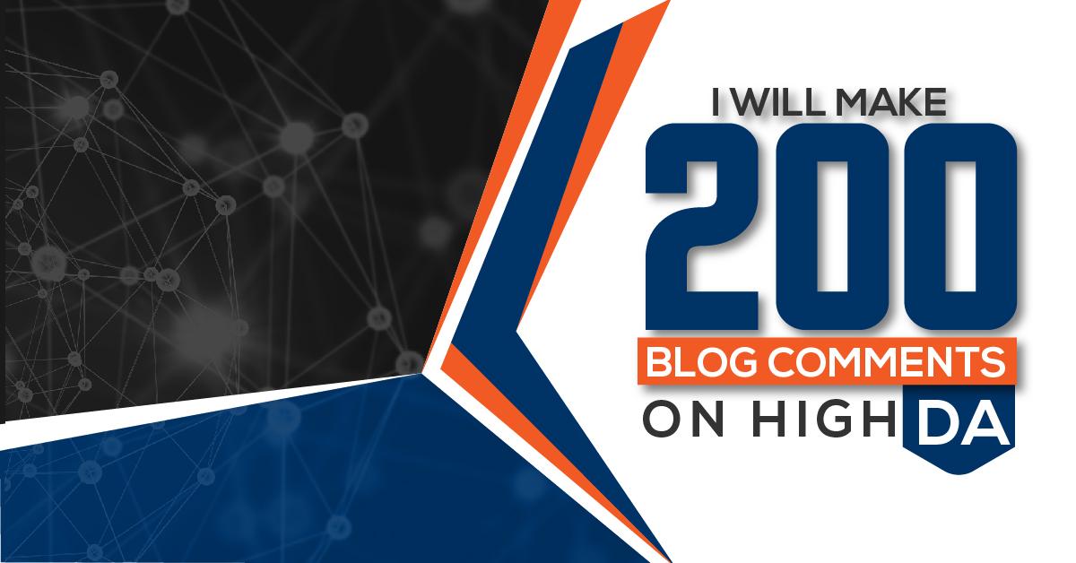 Create 200 niche relevant manual blog comment backlinks on high DA sites