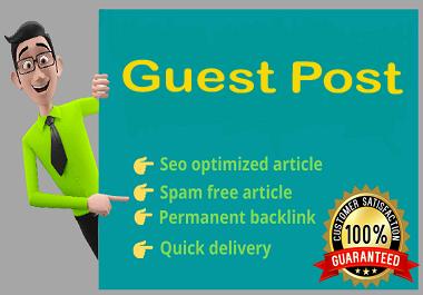 Publish 15 guest post Seo Backlink on high DA website