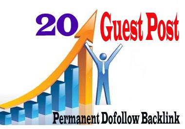 Get 20 HQ dofollow Guest Post Seo backlink