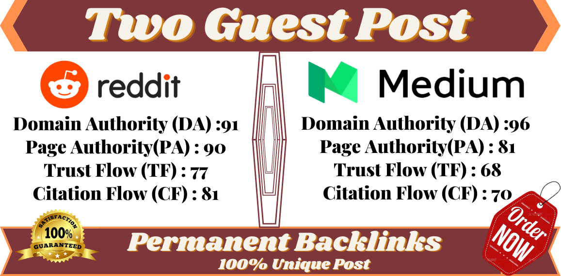 Write And Publish A Guest Posting On Medium and Reddit. Boost Your Website.