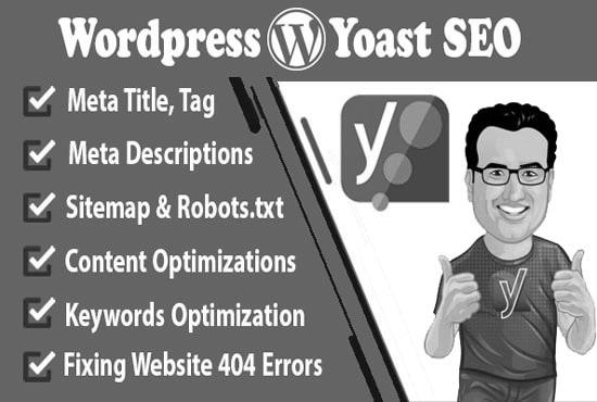 I will do wordpress Yoast SEO onpage optimization