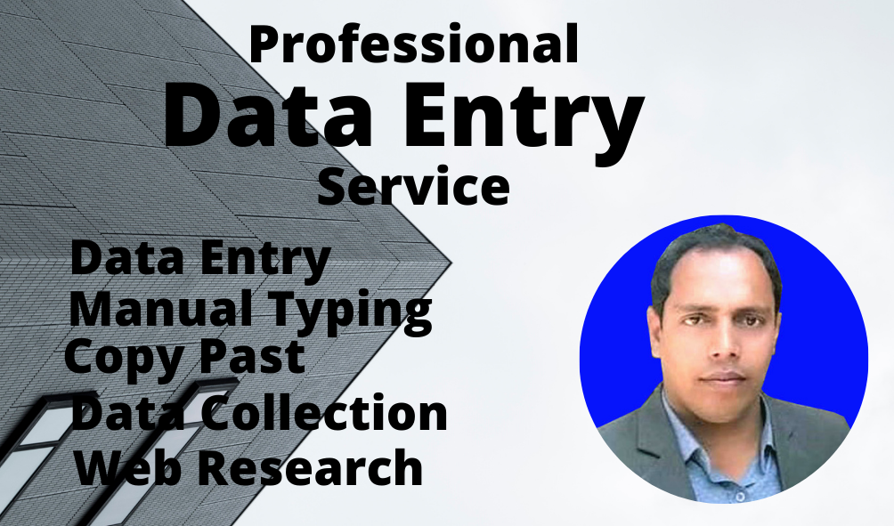 I will do data entry,  copy paste,  web research,  web scraping and excel data entry