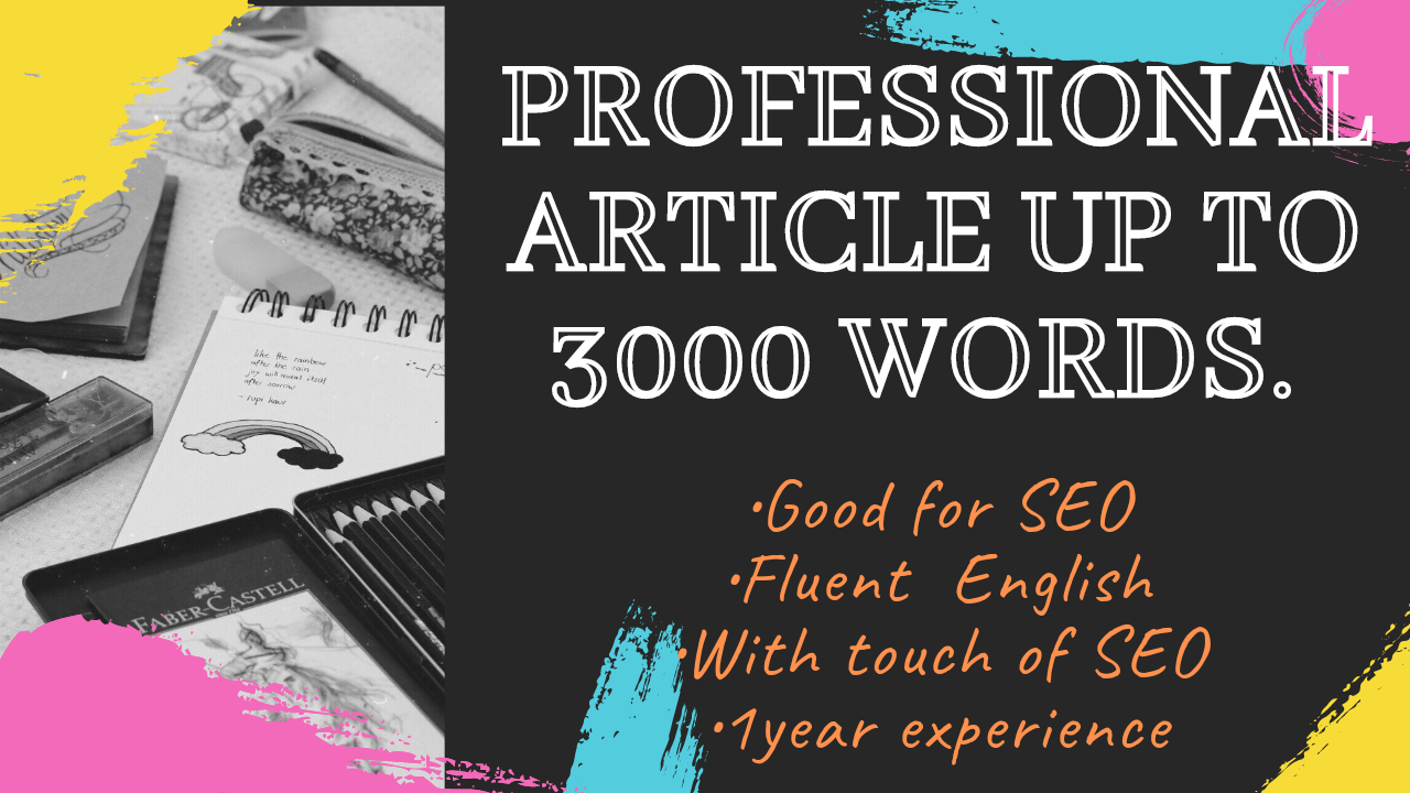 I will write incredible content writer ,SEO writer and article writer for your website or blogposts.