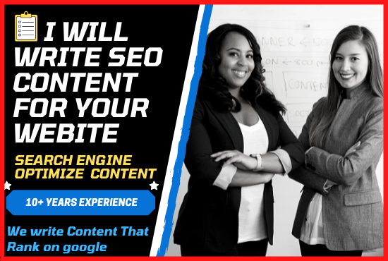 I will write SEO content for your business website