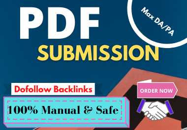 I Will Do 30 PDF Submission Dofollow Backlinks With Max DA/PA.