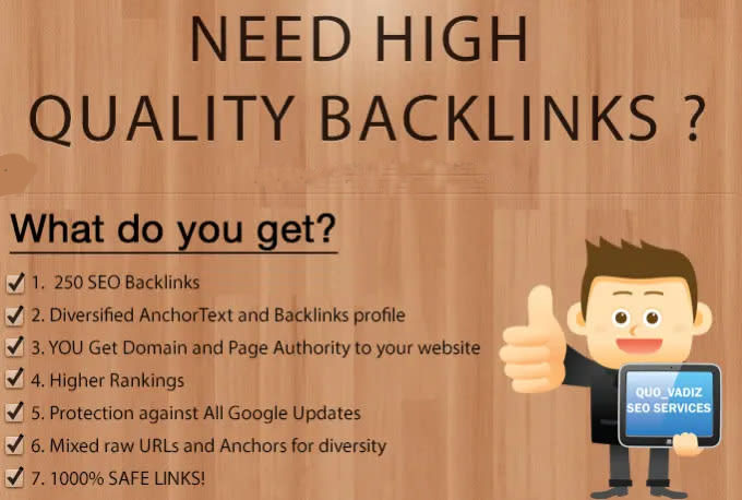 250 high quality backlinks improves SEO in 2021