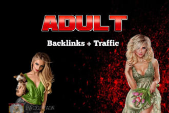I will drive real 100 organic adult web traffic, adult promotion to USA backlink