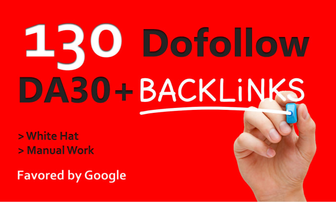 I will create 130 da30 plus white hat dofollow backlinks