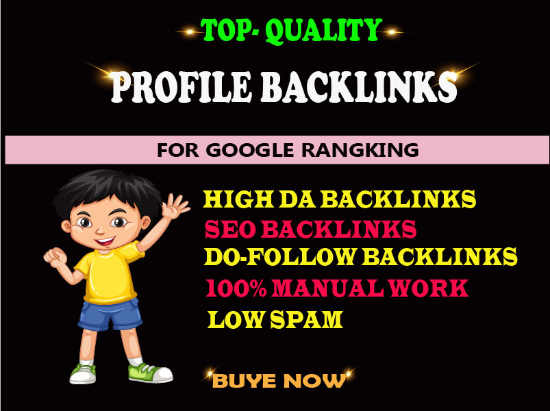 I will create 100 high DA dofollow seo profile backlinks