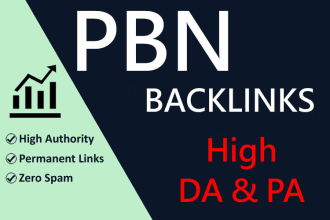 I will make 40 high da pa authority permanent seo backlinks
