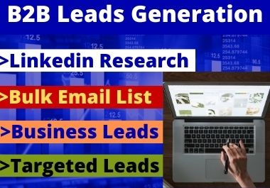 I will do B2B Lead Generation and Bulk Email List work